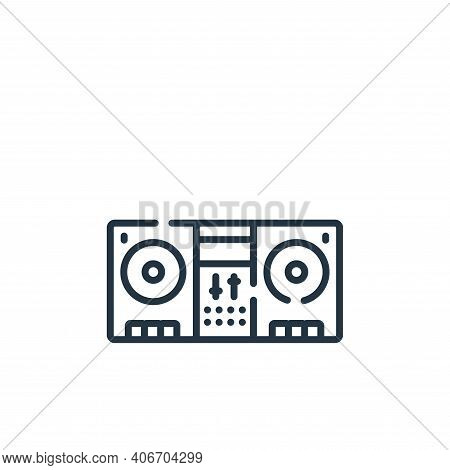 turntable icon isolated on white background from celebration collection. turntable icon thin line ou