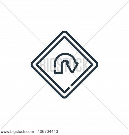 turn back icon isolated on white background from signals and prohibitions collection. turn back icon