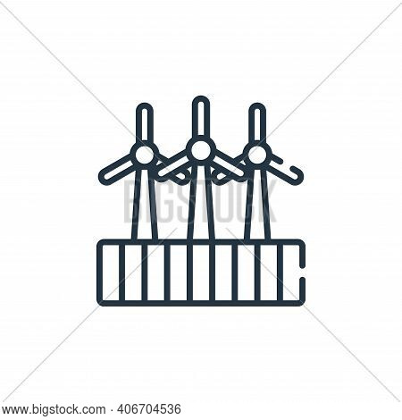 turbine icon isolated on white background from smart farm collection. turbine icon thin line outline