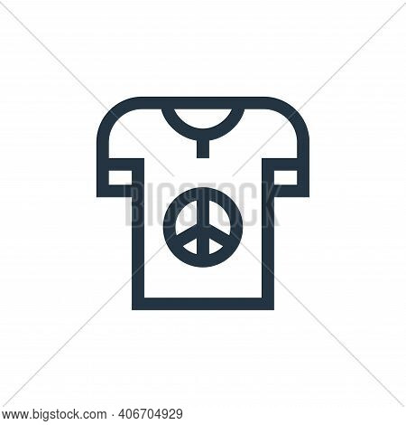 t shirt icon isolated on white background from hippies collection. t shirt icon thin line outline li