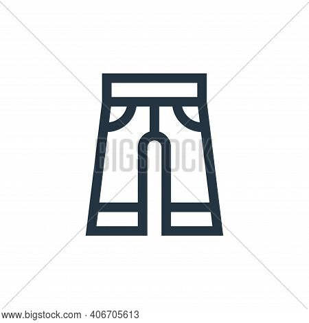 trousers icon isolated on white background from hippies collection. trousers icon thin line outline