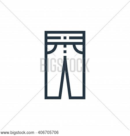 trousers icon isolated on white background from clothes and apparel collection. trousers icon thin l