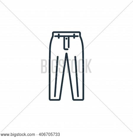 Trousers Vector Icon From Clothes And Outfit Collection Isolated On White Background