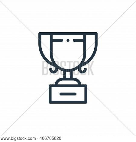 trophy icon isolated on white background from autoracing collection. trophy icon thin line outline l