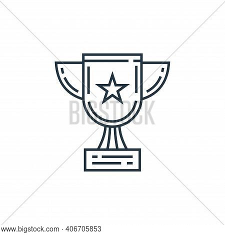 trophy icon isolated on white background from environment and eco collection. trophy icon thin line