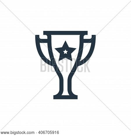 trophy icon isolated on white background from job resume collection. trophy icon thin line outline l