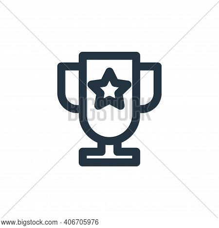 trophy icon isolated on white background from marketing business collection. trophy icon thin line o