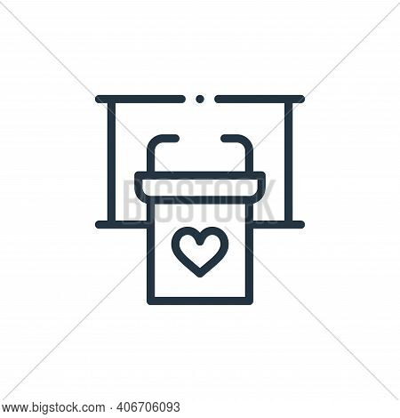 tribune icon isolated on white background from world love collection. tribune icon thin line outline