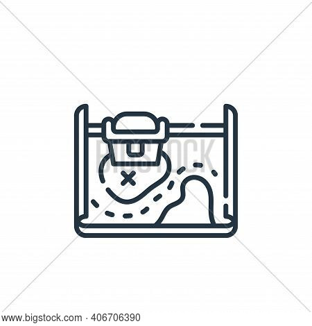 treasure map icon isolated on white background from navigation and maps collection. treasure map ico