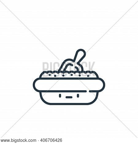 tray icon isolated on white background from pets collection. tray icon thin line outline linear tray