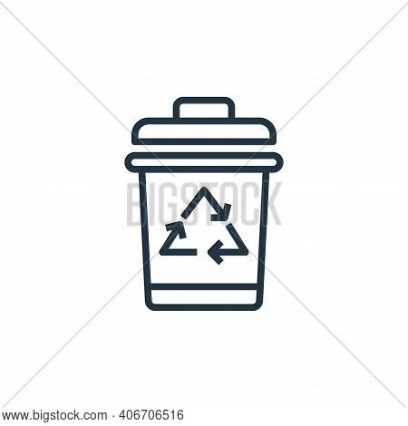 trash bin icon isolated on white background from laundry collection. trash bin icon thin line outlin