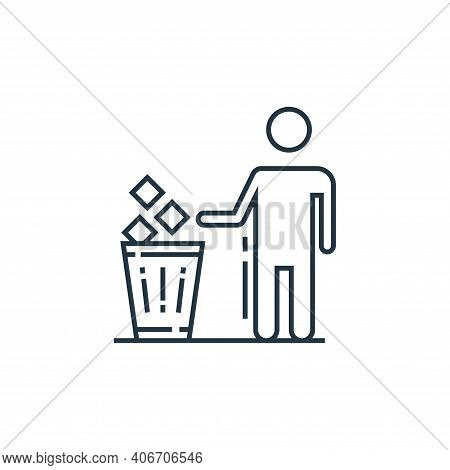 trash bin icon isolated on white background from environment and eco collection. trash bin icon thin