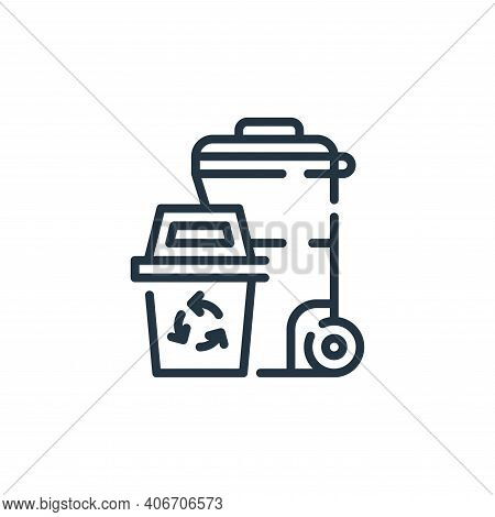 trash icon isolated on white background from cleaning collection. trash icon thin line outline linea