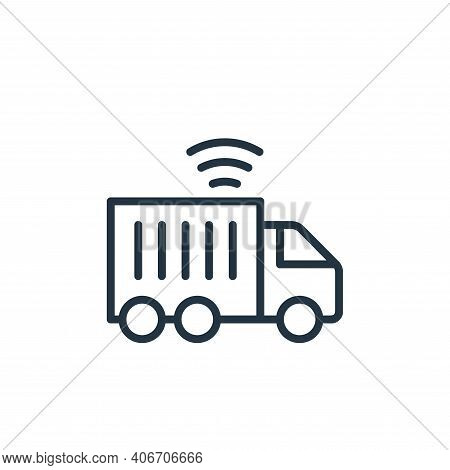 transport icon isolated on white background from internet of things collection. transport icon thin