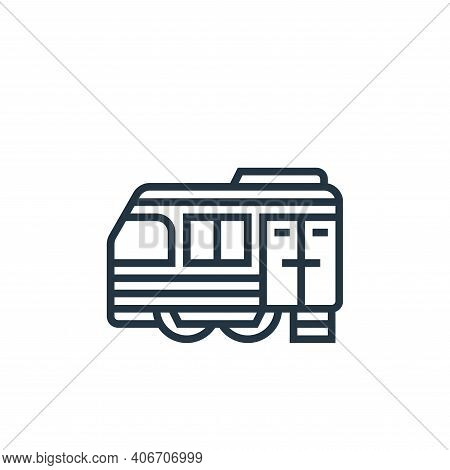 train cargo icon isolated on white background from railway collection. train cargo icon thin line ou
