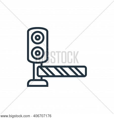 traffic barriers icon isolated on white background from railway collection. traffic barriers icon th