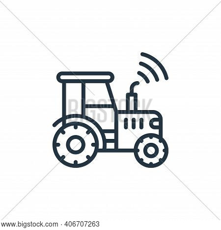 tractor icon isolated on white background from internet of things collection. tractor icon thin line