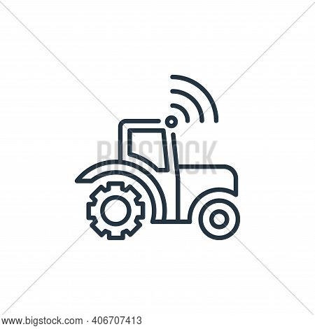 tractor icon isolated on white background from smart farm collection. tractor icon thin line outline