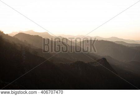Aerial Alpine Mountain Landscape Panorama At Lago De Enol Ercina Covadonga Lakes Picos De Europa Ast