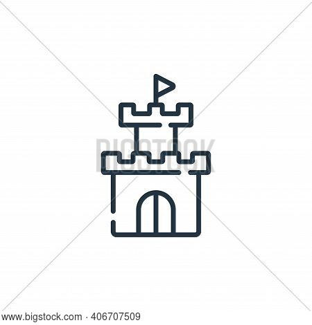 tower icon isolated on white background from videogame collection. tower icon thin line outline line