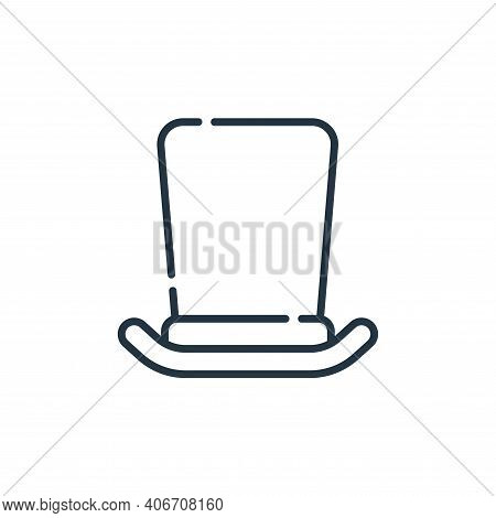 top hat icon isolated on white background from england collection. top hat icon thin line outline li