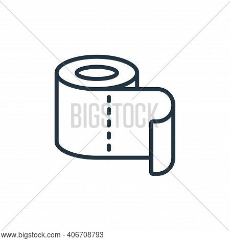 toilet roll icon isolated on white background from hygiene collection. toilet roll icon thin line ou