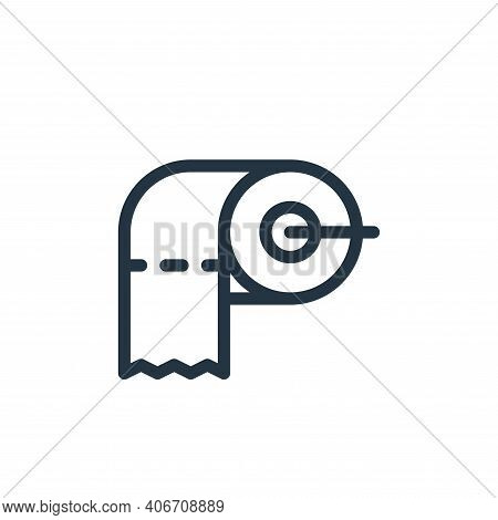 toilet paper icon isolated on white background from personal hygiene collection. toilet paper icon t