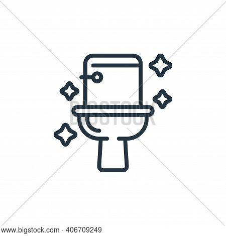 toilet icon isolated on white background from hygiene collection. toilet icon thin line outline line