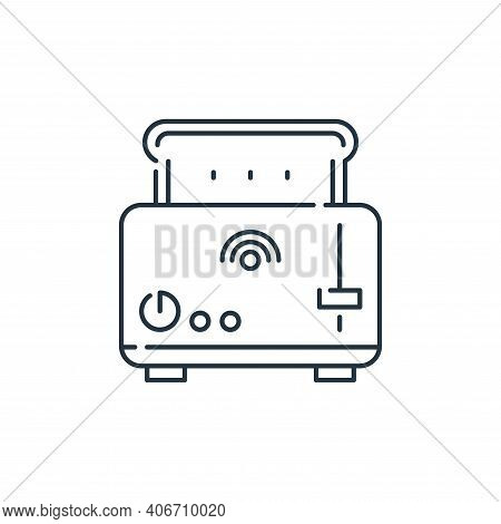 toaster icon isolated on white background from internet of things collection. toaster icon thin line