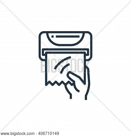 tissue paper icon isolated on white background from washing hand collection. tissue paper icon thin