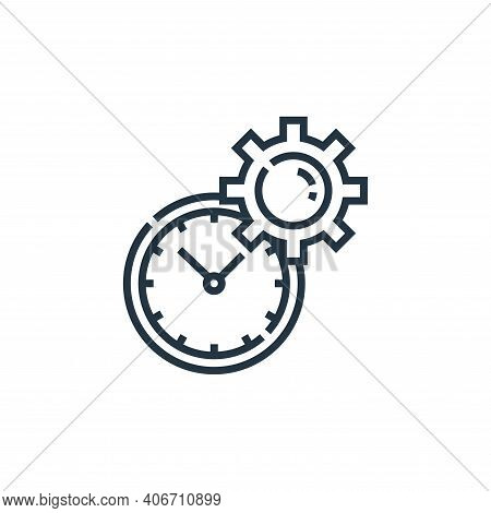 time management icon isolated on white background from marketing collection. time management icon th