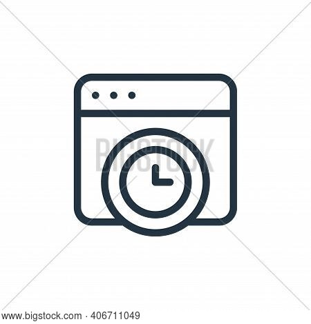 time icon isolated on white background from online learning collection. time icon thin line outline