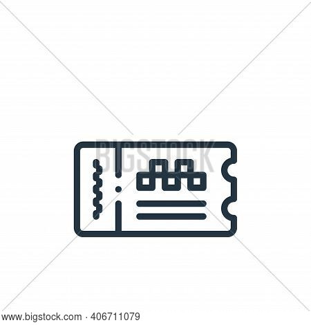 ticket icon isolated on white background from taxi service collection. ticket icon thin line outline