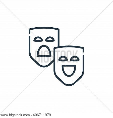 theater icon isolated on white background from circus collection. theater icon thin line outline lin
