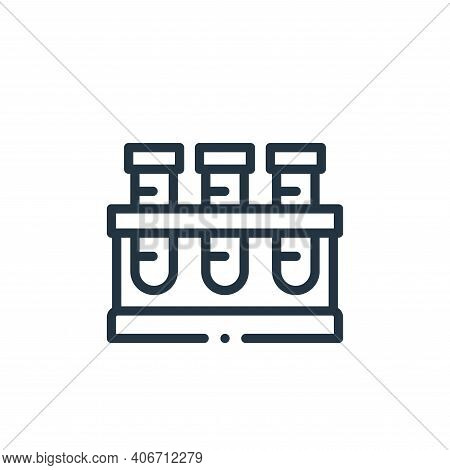 test tubes icon isolated on white background from medicine collection. test tubes icon thin line out
