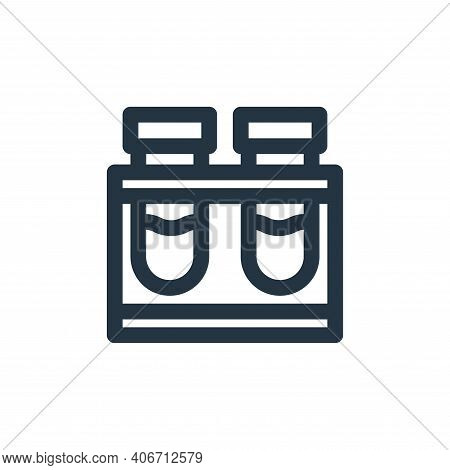 test tube icon isolated on white background from virus transmission collection. test tube icon thin