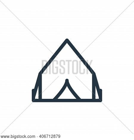 tent icon isolated on white background from holiday collection. tent icon thin line outline linear t