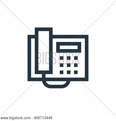 telephone icon isolated on white background from electronics collection. telephone icon thin line ou
