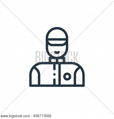 technician icon isolated on white background from autoracing collection. technician icon thin line o