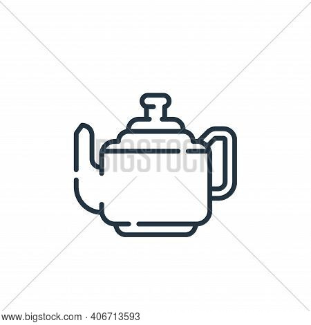 teapot icon isolated on white background from england collection. teapot icon thin line outline line