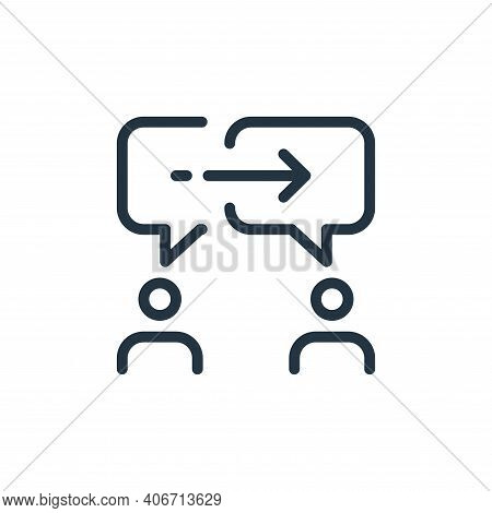 teamwork icon isolated on white background from work office and meeting collection. teamwork icon th