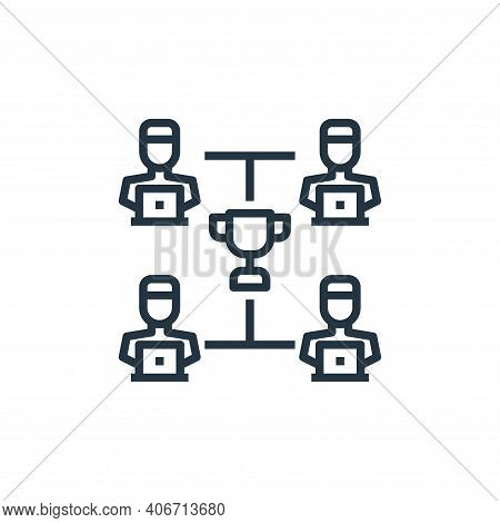teamwork icon isolated on white background from work from home collection. teamwork icon thin line o