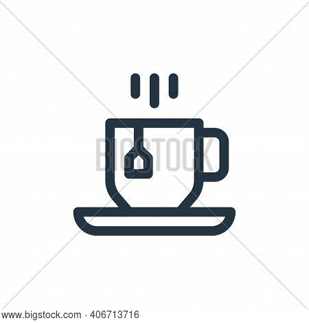 tea cup icon isolated on white background from england collection. tea cup icon thin line outline li
