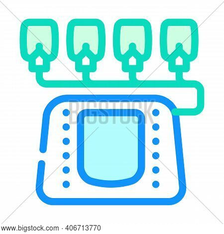 Electrotherapy Equipment Color Icon Vector Illustration Flat