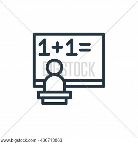 teacher icon isolated on white background from school collection. teacher icon thin line outline lin