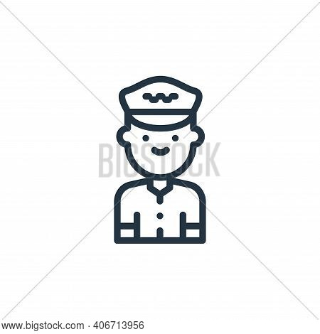 taxi driver icon isolated on white background from taxi service collection. taxi driver icon thin li