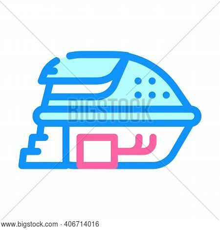 Deprivation Chamber, Floating Capsule Color Icon Vector Illustration