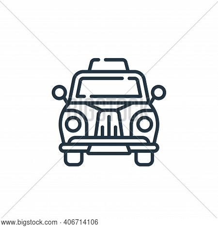 taxi icon isolated on white background from england collection. taxi icon thin line outline linear t