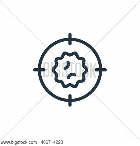 target icon isolated on white background from coronavirus collection. target icon thin line outline