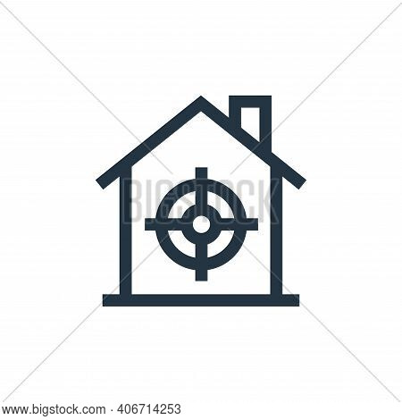 target icon isolated on white background from real estate collection. target icon thin line outline